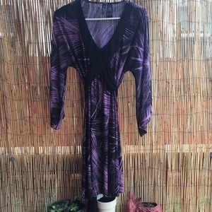 Bisou bisou Purple and Black Tunic